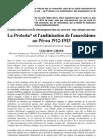 La Protesta et l'andinisation de l'anarchisme au Pérou