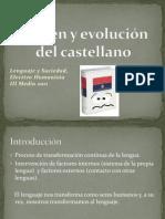 Origen y evolución del castellano III Medio humanista