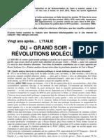 Du Grand Soir aux révolutions moléculaires – Italie années 70