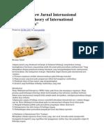 Critical Review Jurnal Internasional Toward