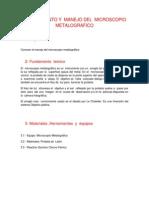 Conocimiento y Manejo Del Microscopio Metalografico (1)