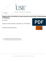 Morphing Race Into Ethnicity Asian Americans and Critical Transformations of Whiteness