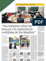 Mesa Redonda sobre Lima Milenaria en El Comercio