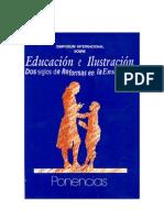 Educación e Ilustración. Symosium. Ministerio de Educación, 1998.