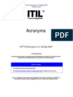 ITILV3 Acronyms English v1 2007