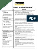 tech standars teachers
