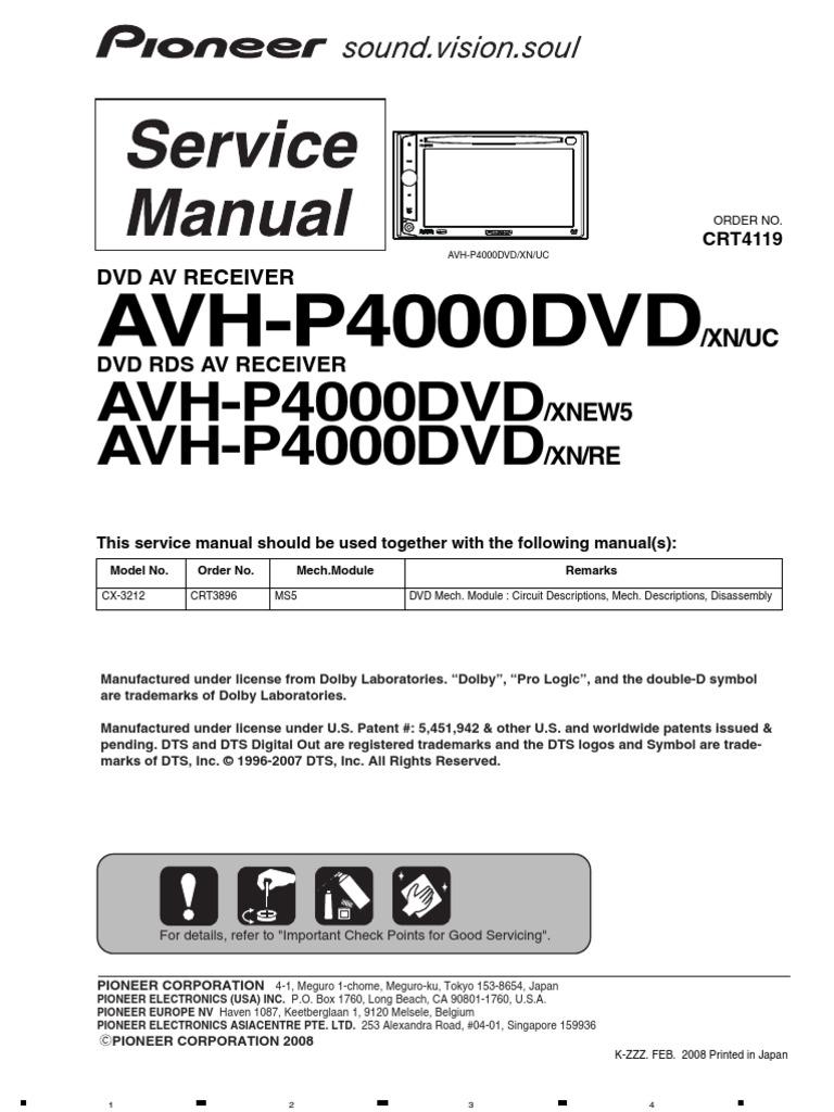 Pioneer Avh P5000dvd Wiring Diagram Diagrams Schema P6600dvd P5050dvd Free Download U2022 Oasis Dl Co P4000dvd