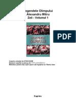Legendele Olimpului Alexandru Mitru Vol 1