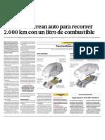 Ciencia y Tecnologia auto recorre 2 000 km con 1 litro de combustible