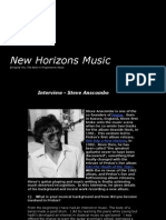 New Horizons Music - Interview with guitarist Steve Anscombe