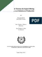 Análisis de Técnicas de Aspect Mining Aplicadas a un Sistema en Producción