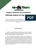 Gaspar Melchor De Jovellanos Informe Sobre La Ley Agraria