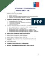Normas, Instrucciones y Procedimientos de Inversion Publica