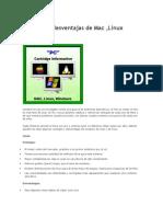 Ventajas y Desventajas de Mac Windows Linux
