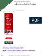 Utilizar TreeSet en Java