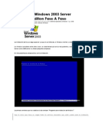 Instalación Windows 2003 Server Enterprise Edition Paso A Paso