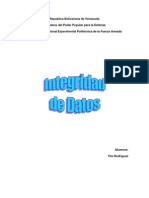Integridad de Datos