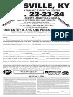 2008 Entry Blank