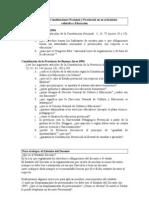 Análisis de las Constituciones Nacional y Provincial en su articulado