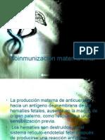 Isoinmunización materno-fetal
