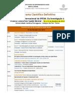 Programa do III Congresso Internacional da SPESM 2012
