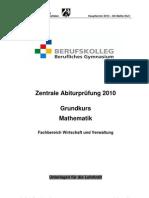 Mathe Gk Wuv Abitur2010 HT L