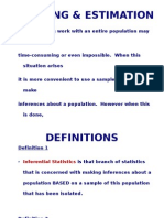 Sampling Estimation