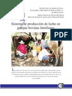 Sistema de producción de leche en granjas bovinas familiares