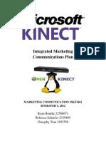 Microsoft Kinect Marketing Communication Plan