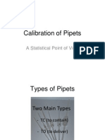 Calibration of Pipets