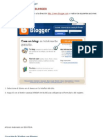 Creacion de Weblog Con Blogger
