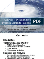 Analisis of Disaster Information Typhoon Committee Member Countries