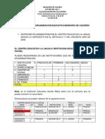 2ª PROPUESTA DE REORGANIZACION EDUCATIVA MUNICIPIO DE CACERES