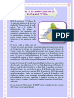 DÍA DE LA REINCORPORACIÓN DE TACNA A LA PATRIA