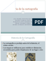 Historia de La Cartografia D,M,I,O,R.