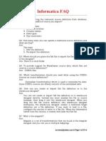 Informatica FAQs - Total 111 FAQs