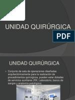 UNIDAD QUIRÚRGICA Y MOBILIARIO DE UNA SALA QUIRÚRGICA