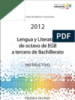 Instructivo Lengua 8a3 2012