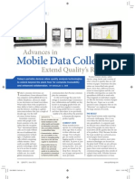 Advances Mobile Data Collection