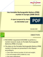 Portable Rechargeable Battery Market in Europe 2008-2015 - Jan 2011