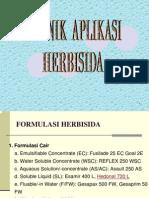 Teknik Aplikasi Herbisida