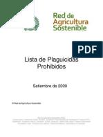 RAS Lista de Plaguicidas Prohibidos Setiembre 2009[1]