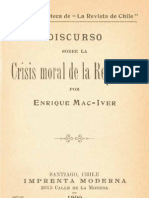 Discurso Crisis Moral República Mac Iver