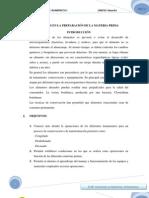 Informe 2 Operaciones e La Preparacion de La Materia Prima Lizy