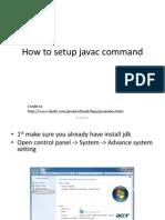 How to Setup Javac Command