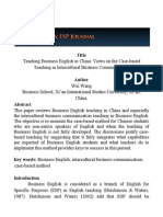 Business English Teaching in China