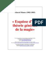 MAUSS, Marcell - Esquisse d'Un Theorie Generale de La Magie