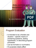 Program Evaluation and Management