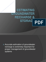 Estimating Groundawater Recharge