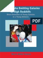 Lyman Alpha Emitting Galaxies at High Redshift
